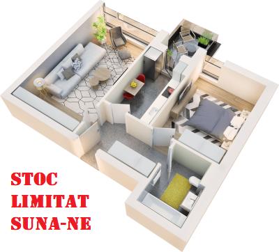 Apartament 2 camere tip 2A.4 balcon | etaj 1-3 | Cladire 1A