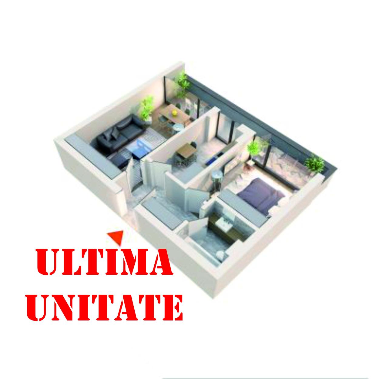 Apartament 2 camere tip 2C1′ Balcon | Etaj 1-4 | Corp C3, C4 | Faza 2