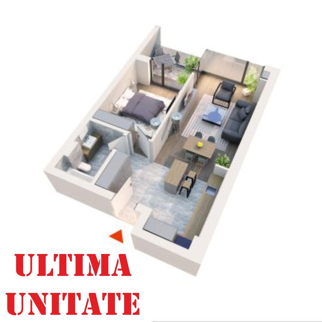 Apartament 2 camere tip 2D2′ Logie | Etaj 5-6 | Corp C8 | Faza 2