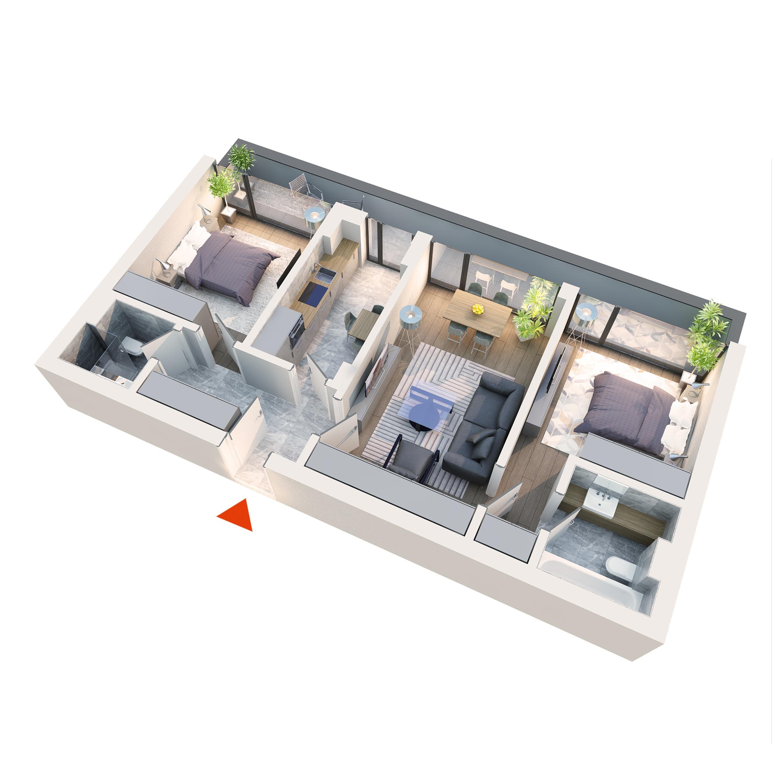 Apartament la cheie luminos 3 camere Sector 1