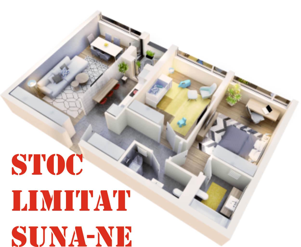 Apartament 3 camere tip 3D.1 logie | etaj 1-3 | Cladire 1 | Faza 1