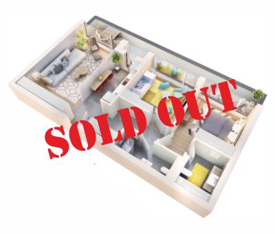 Apartament 3 camere tip 3D.2 balcon | etaj 4 | Cladire 1