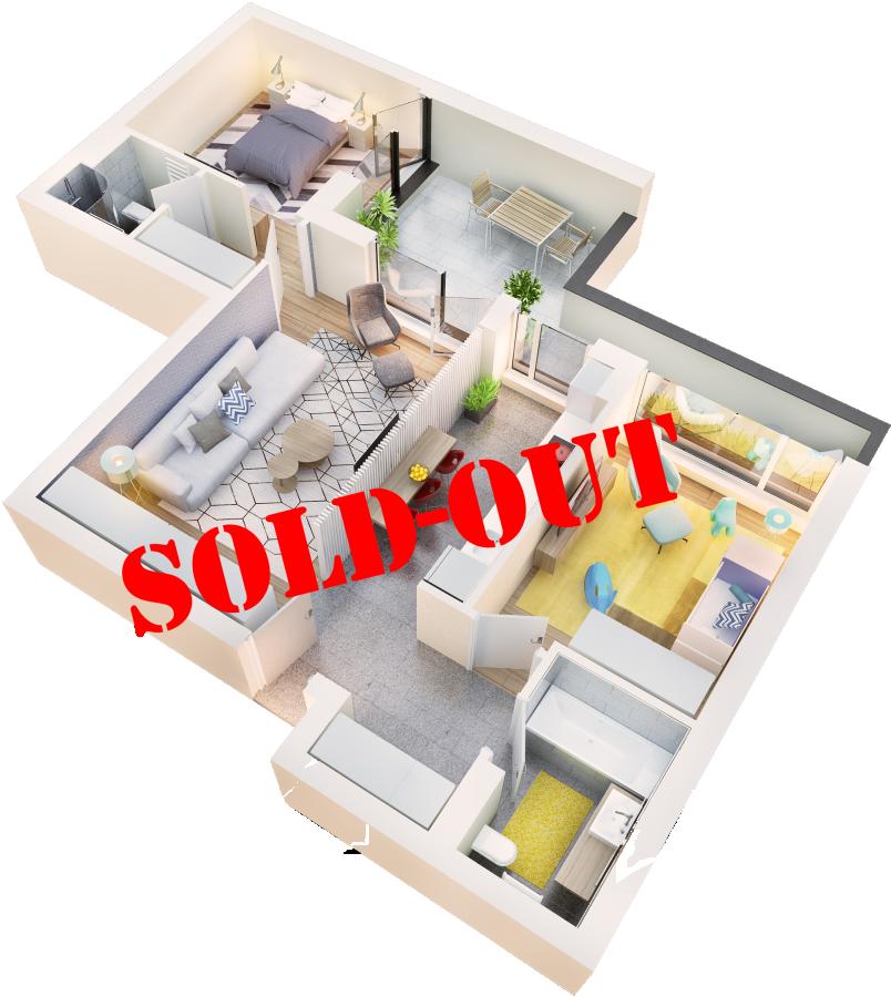 Apartament 3 camere tip 3E balcon | etaj 4 | Cladire 1