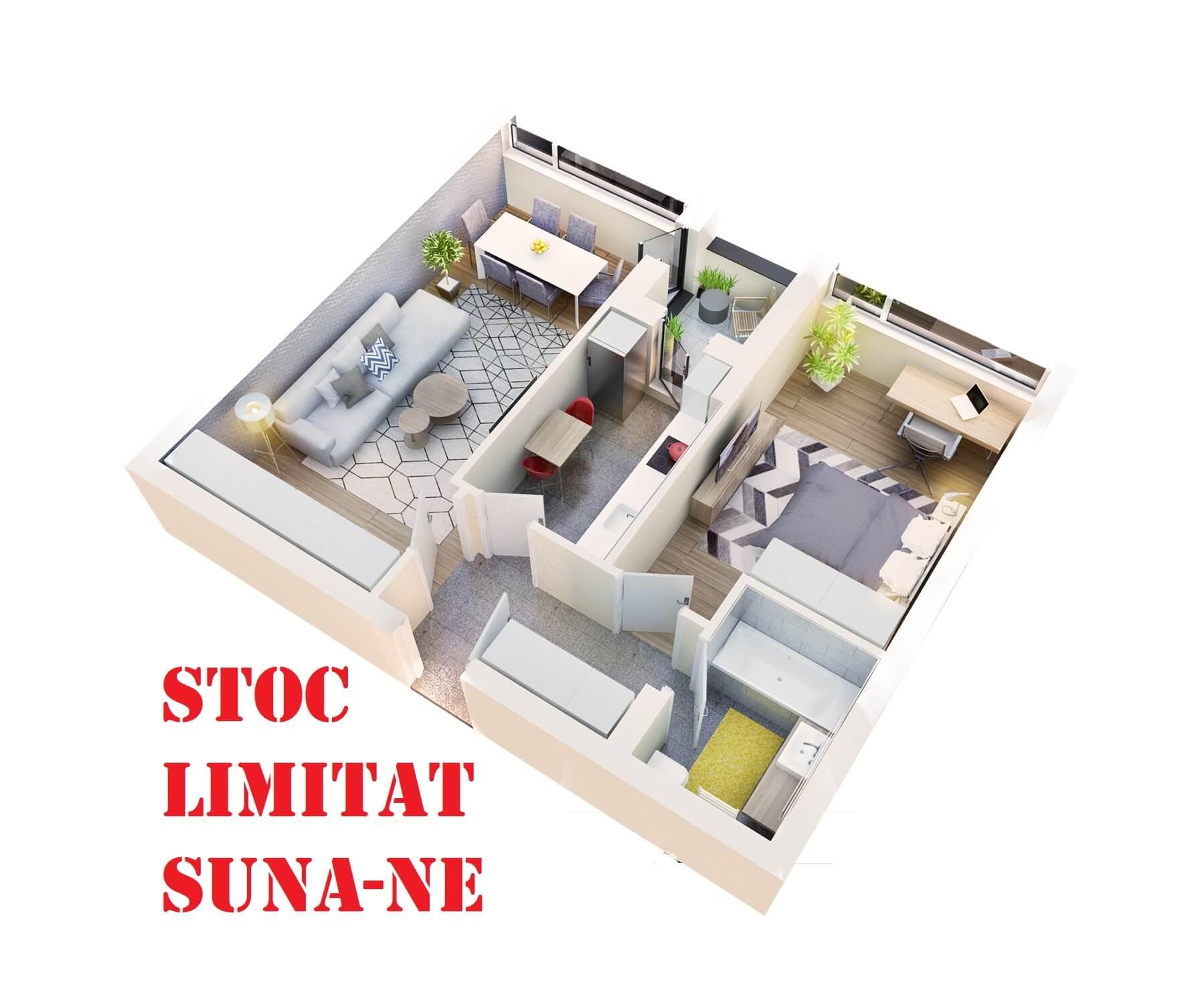 Apartament 2 camere tip 2A.2 logie | etaj 1-3 | Cladire 1A | Faza 1