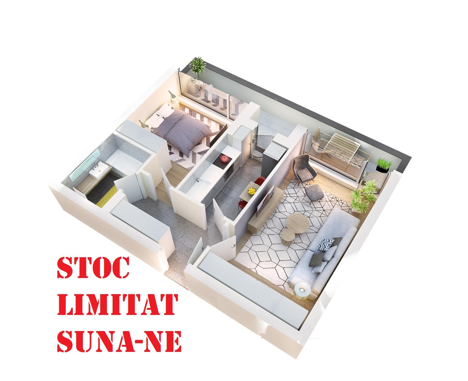 Apartament 2 camere tip 2A.3 balcon | etaj 4 | Cladire 1A | Faza 1
