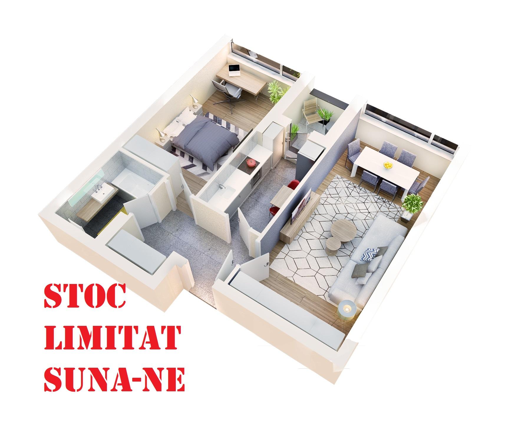 Apartament 2 camere tip 2C.2 logie | etaj 1-3 | Cladire 1 | Faza 1
