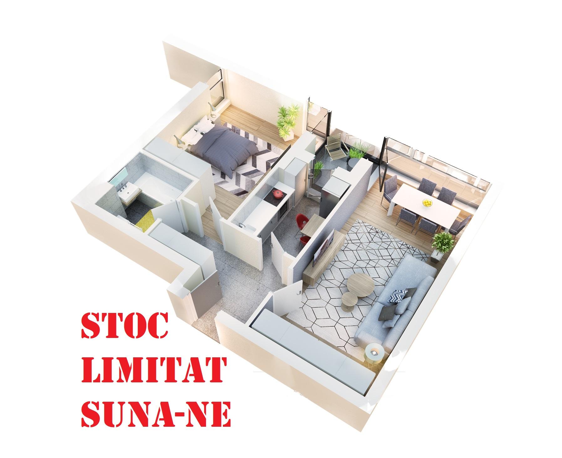 Apartament 2 camere tip 2D.2 logie | etaj 1-3 | Cladire 1 | Faza 1