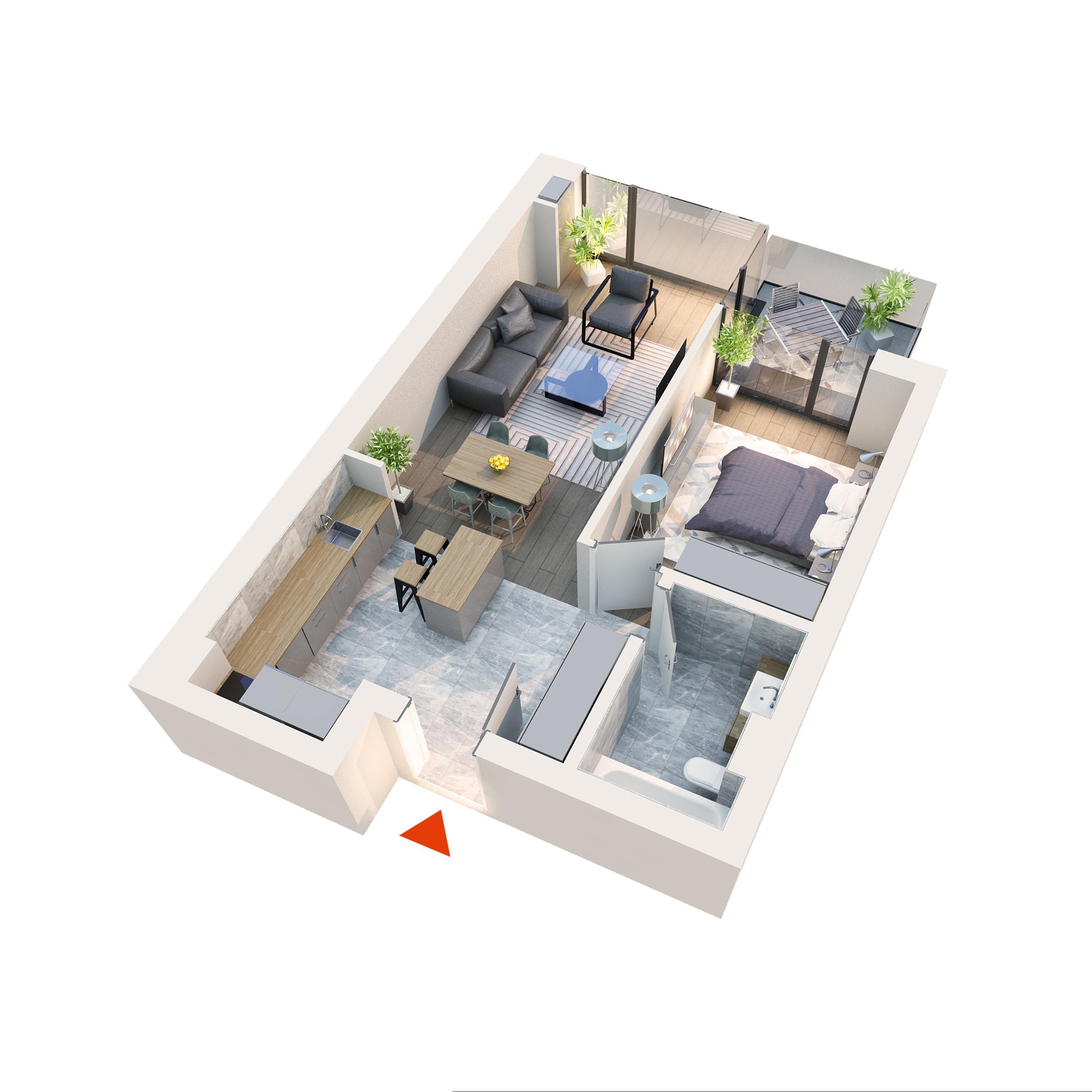 Apartament 2 camere Atria 2D2''