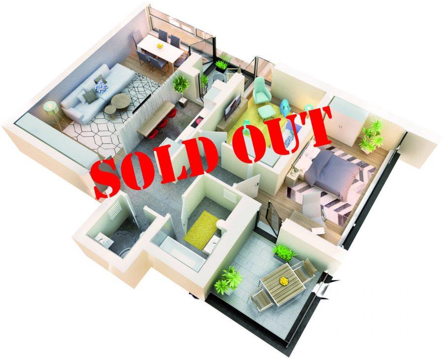 Apartament 3 camere tip 3C logie | etaj 1-3 | Cladire 1