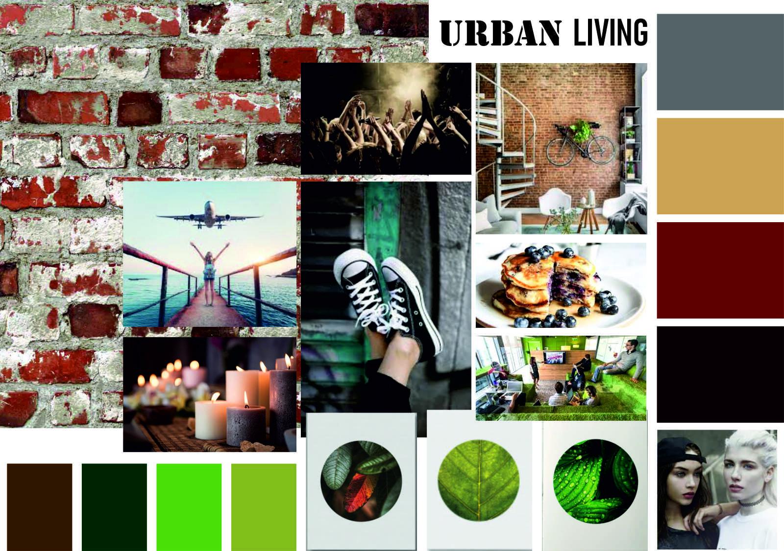 moodboard amenajare apartament in stil urban