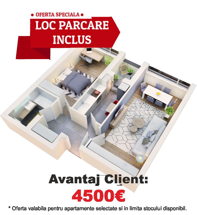 Apartament 2 camere tip 2C.2 logie | etaj 1-3 | Cladire 1