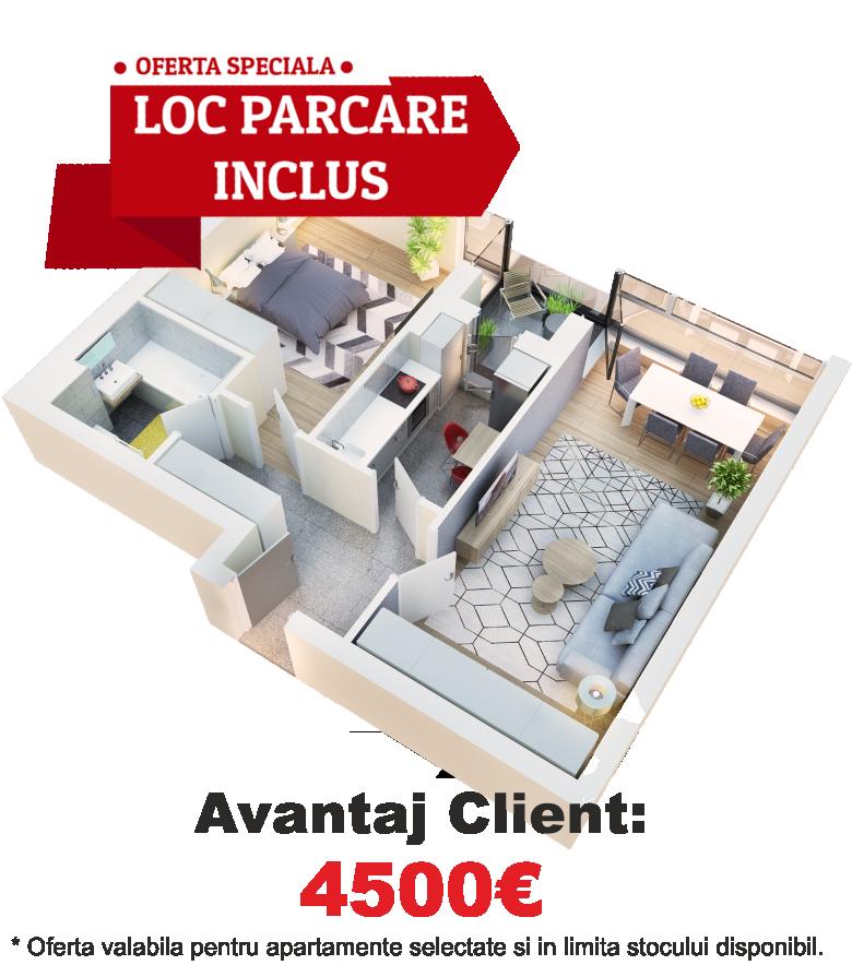 Apartament 2 camere tip 2D.2 logie | etaj 1-3 | Cladire 1