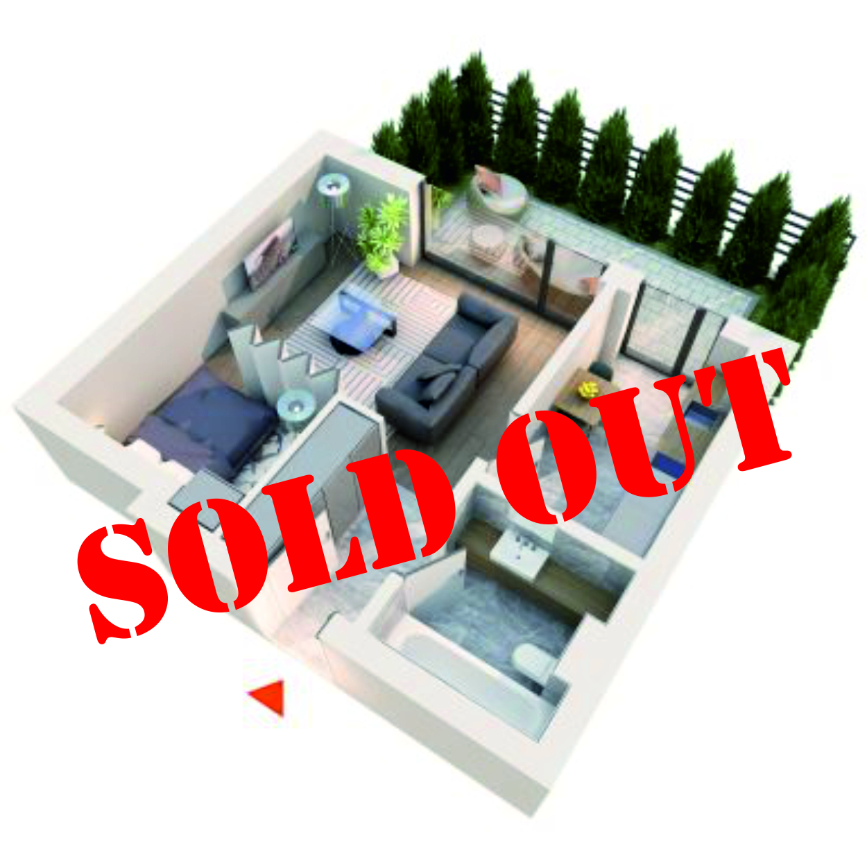 Apartament Studio tip 1A1 | Gradina | Parter | Corp C3 C4 | Faza 2