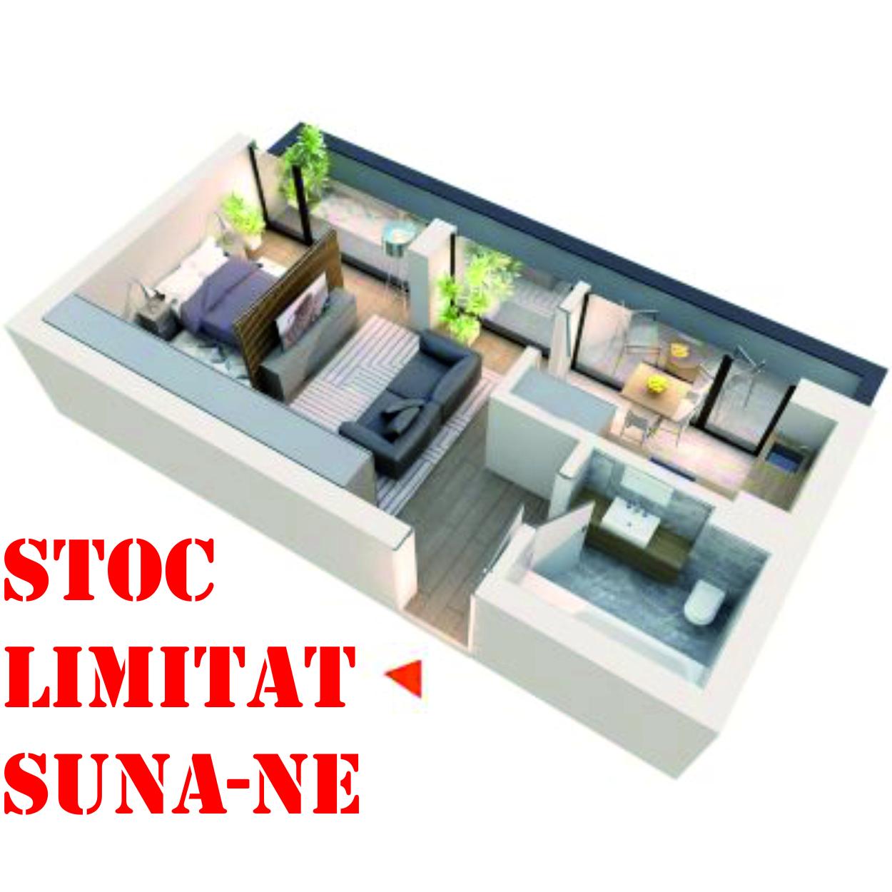 Apartament Studio tip 1C1 | Balcon | Etaj 4 | Corp C1 C2 C5 C6 | Faza 2