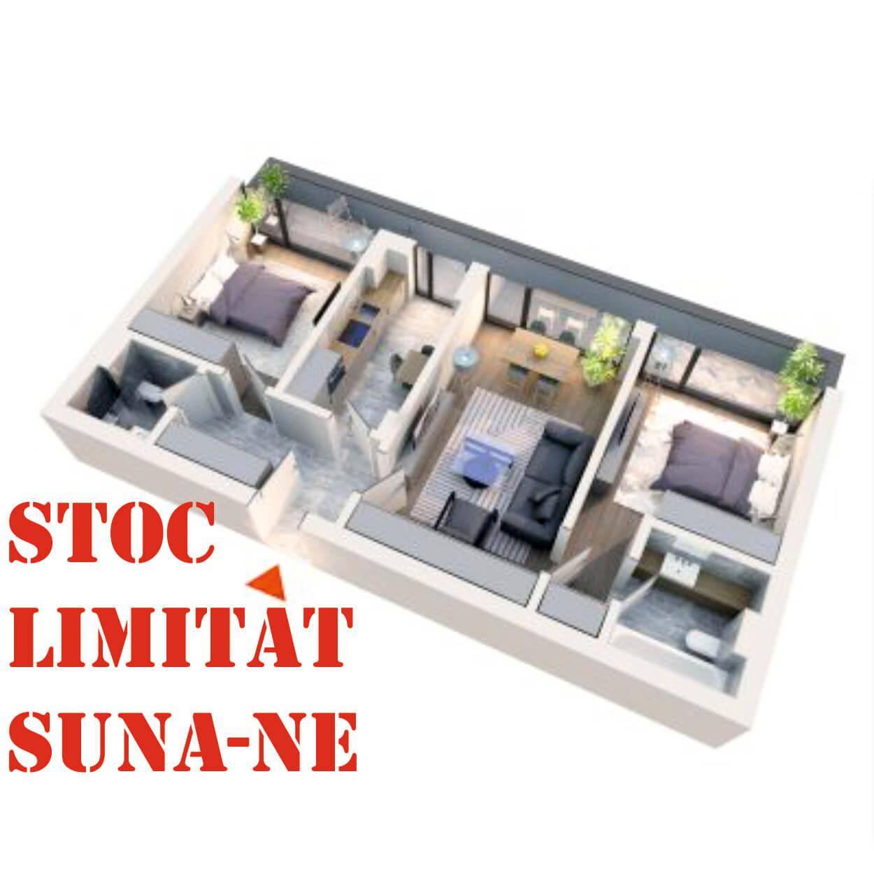 Apartament 3 camere tip 3C1 | Balcon | Etaj 4 | Corp C3 C4 | Faza 2