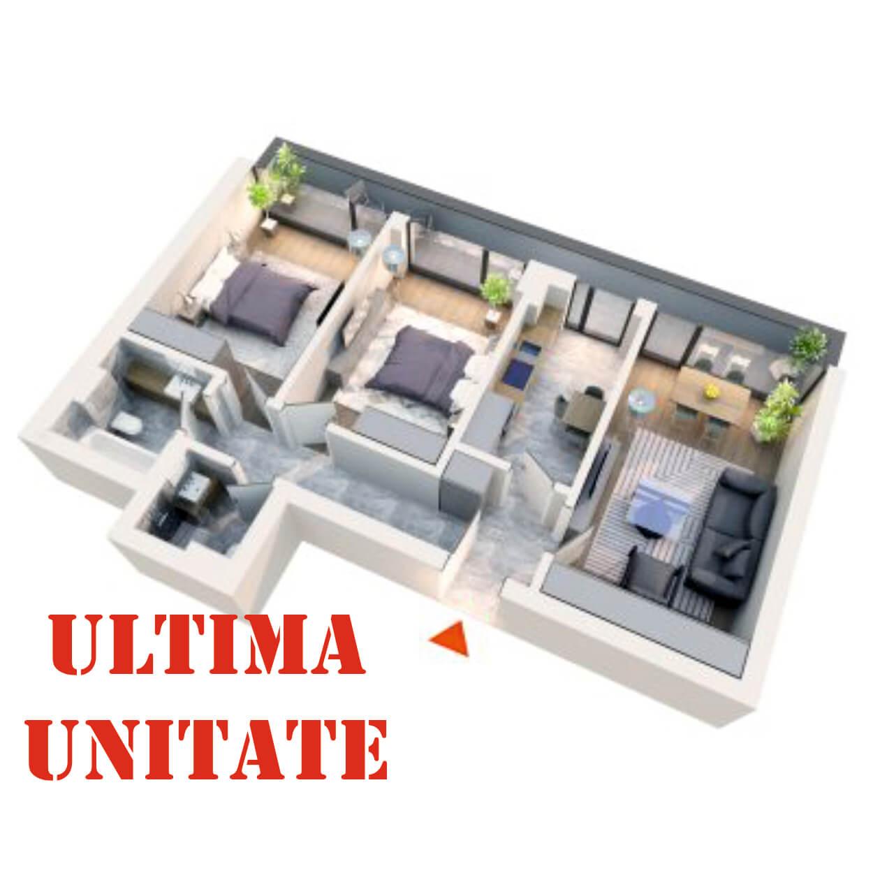 Apartament 3 camere tip 3C3 | Balcon | Etaj 4 | Corp C2 C5 | Faza 2