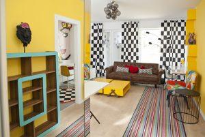 tur virtual apartament cu amenajarea unui apartament studio Pop Art
