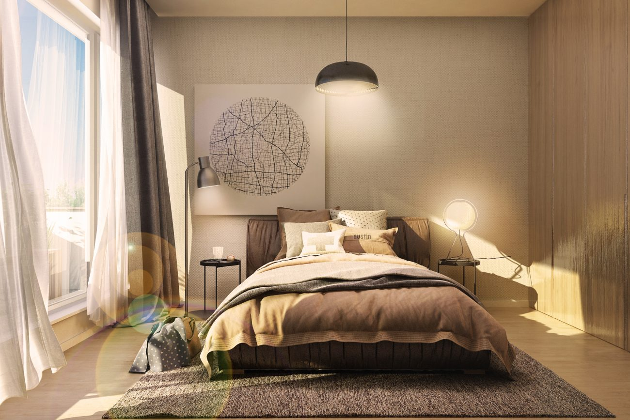 Amenajare dormitor lung și îngust