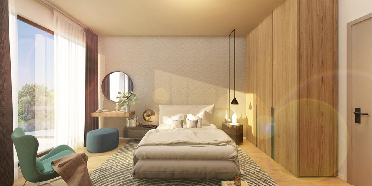 Dormitor ferestre mari Atria Urban Resort