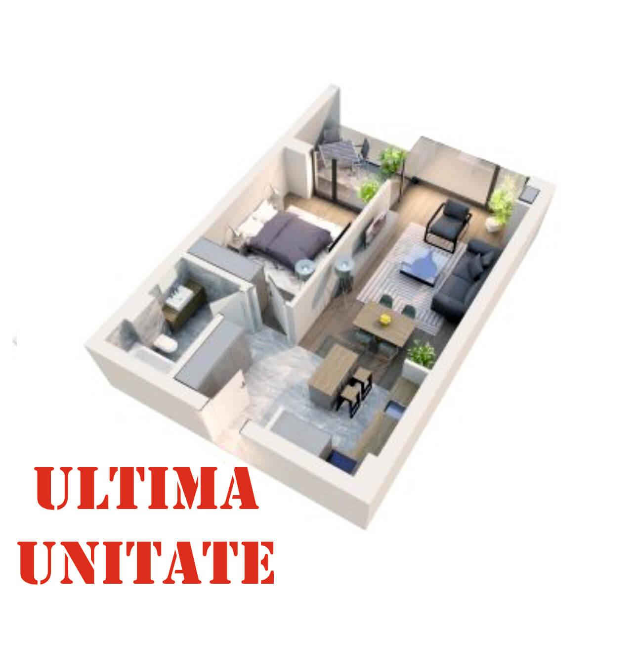 Apartament 2 camere tip 2D1′ Logie | Etaj 5-6 | Corp C8 | Faza 2