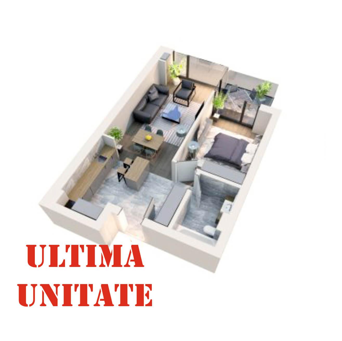 "Apartament 2 camere tip 2D2"" Logie | Etaj 5-6 | Corp C7 | Faza 2"
