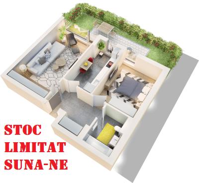 Apartament 2 camere tip 2B.1 terasa si gradina | parter | Cladire 1A