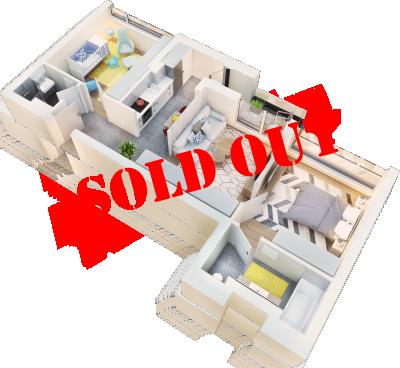 Apartament 3 camere tip 3F balcon | etaj 1-3 | Cladire 1