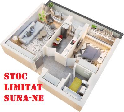 Apartament 2 camere tip 2B.2 balcon | etaj 4 | Cladire 1A
