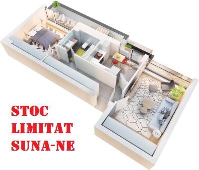 Apartament 2 camere tip 2E balcon | etaj 4 | Cladire 1
