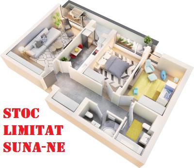 Apartament 3 camere tip 3B.3 balcon | etaj 4 | Cladire 1