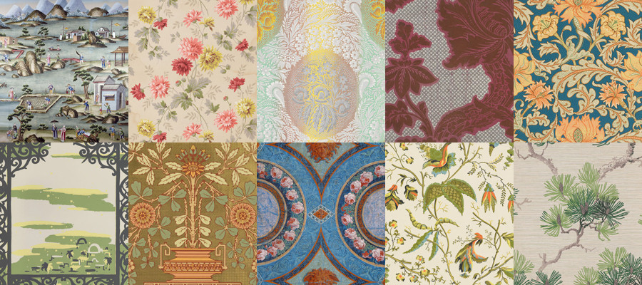 Amenajare camera in culori vii cu tapet floral sau forme geometrice