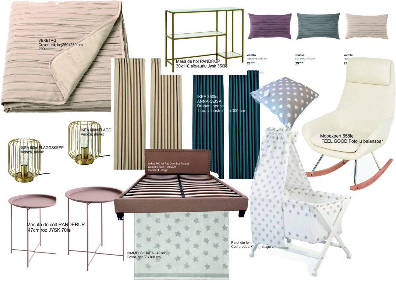 moodboard design dormitor model 3D1